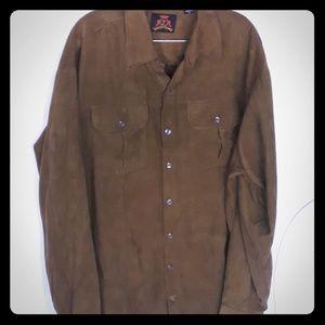 Men's XL 7 Diamonds brown lS button down shirt